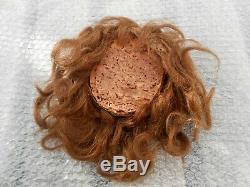Ancienne perruque cheveux naturels et calotte liège BB époque XIXème
