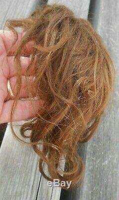 Ancienne perruque mohair BB taille 6 époque fin XIXème