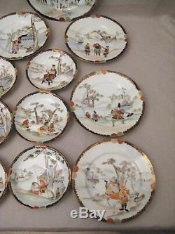 Anciennes assiettes Japonaises en porcelaine époque XIX ème siècle