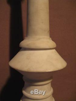 Anciennes paire de piques cierges en marbre époque XIX ème siècle