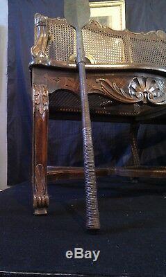 Antique Zulu Iklwa. Zoulou Iklwa d'époque XIX ème provenance Château de la Loire