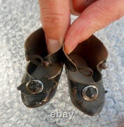 Antique paire chaussures chaussettes JUMEAU taille 7 d'époque fin XIXème