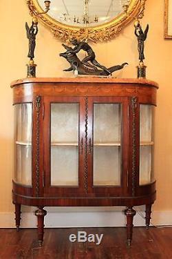 Argentier vitrine de style Louis époque fin XIX ème siècle