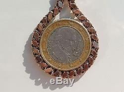 BEAU BRACELET ANCIEN d'époque XIXème en OR ROSE 18K 750/1000° / Longueur 19,5cm