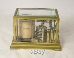 Barographe baromètre enregistreur laiton époque XIXème