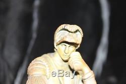 Bel encrier en marbre et bronze d'époque XIX ème