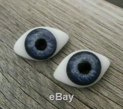 Belle paire yeux sulfure BB JUMEAU époque fin XIXème