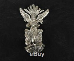 Bénitier en bronze argenté décor d'ange et de coquille époque XIXème