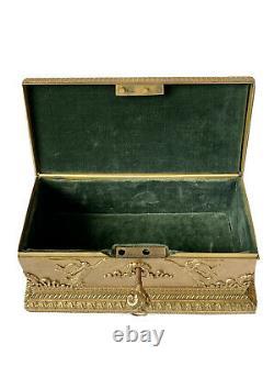 Boîte Coffret en Bronze Doré Style Empire Personnages Époque XIX ème Antique Box
