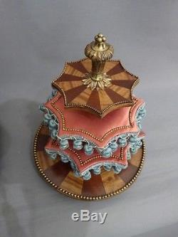 Boîte à Ouvrages, Avec Présentoir Tournant, époque Restauration, XIX ème