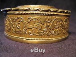 Boîte à bijoux en laiton avec miniature sur porcelaine époque XIX ème siècle