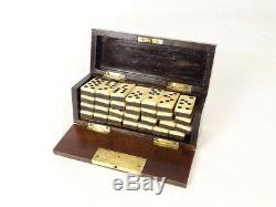 Boîte coffret à jeu de dominos époque XIXème
