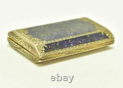 Boite en argent et vermeil et lapis lazuli d'époque XIXème