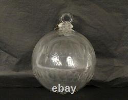 Boule de lustre en cristal de Baccarat époque XIXème