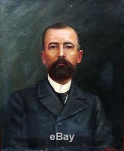 Bralebois Portrait d'homme Epoque fin XIXème siècle huile sur toile