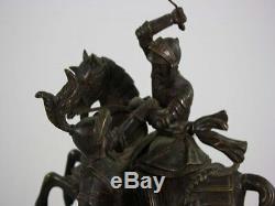 Bronze Charles Martel époque XIXème