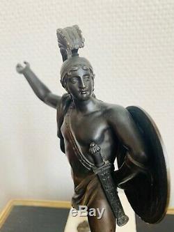 Bronze XIX Eme Époque Empire Mythologique Lanceur De Javelot