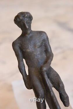 Bronze d'époque XIXème, Homme et Dauphin