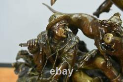 Bronze de J. F. T Gechter époque XIXème représentant Quentin Durward et Louis XI