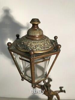 Bronze dieu Hermès veilleuse lanterne époque XIXème siècle