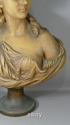 Buste De Madame Du Barry d'Après Augustin Pajou En Terre Cuite, époque XIX ème