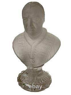 Buste Pape Pie IX Cristal Baccarat Saint Louis Époque XIX ème Antique Bust Pope