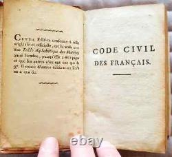 C1 NAPOLEON CODE CIVIL 1804 Toulouse RELIE Plein CUIR d epoque RARE