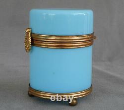 COFFRET en Opaline Bleu Céleste dEpoque Napoléon III Milieu XIXème