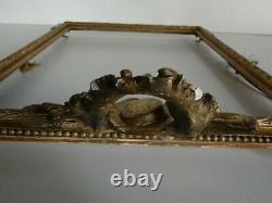 Cadre Bois Doré Stuc Attributs Musique Louis XVI époque XVIII ou XIXème Siècle