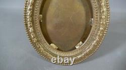 Cadre Photo Ou à Miniature De Style Louis XVI En Bronze Doré, époque XIX ème
