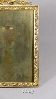 Cadre Porte Photo Style Louis XVI En Bronze Doré, époque XIX ème