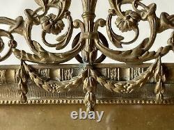 Cadre Porte-Photo en Bronze Style Louis XVI Époque XIX ème Antique Photo Frame