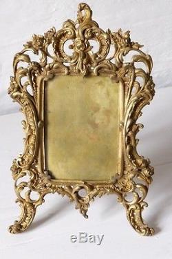 Cadre Rocaille En Bronze, Style Louis XV, époque XIX ème