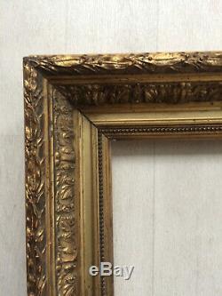 Cadre doré 5F Barbizon pour tableau peinture 35x27cm époque XIXème