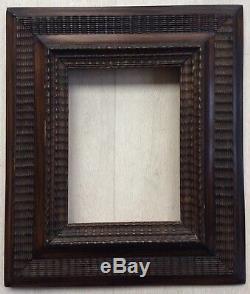 Cadre hollandais XIXème pour tableau peinture dessin 19x14cm haute époque