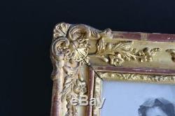 Cadre photo doré époque fin XIXème