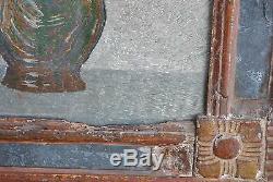 Cadre tapisserie brodés sous verre époque XIXème