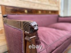Canapé d'apparat époque empire XIXeme retour d Égypte Napoléon Meuble de Chatea