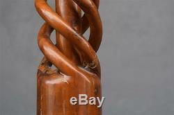 Colonne bois torsadée époque XIXème