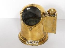 Compas boussole de marine en laiton époque XIXème