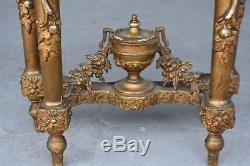 Console bois et stuc doré dessus marbre époque fin XIXème