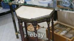 Console d'Entrée De Style Louis XVI à 6 Pieds En Acajou Et Laiton, époque XIX èm