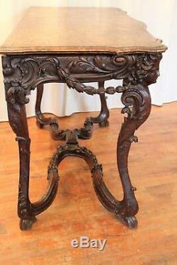 Console de style Régence en bois sculpté époque XIX ème siècle