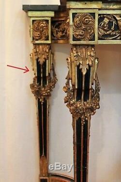 Console dorée de style Louis XVI époque XIX ème siècle