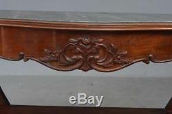 Console en acajou de style Napoléon III dessus marbre époque fin XIXème