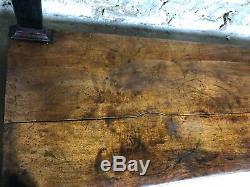 Console époque restauration en noyer à dessus de marbre noir fin XIX eme