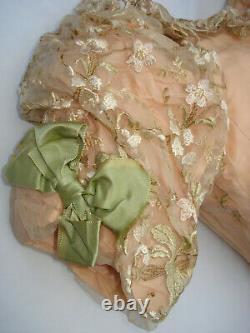 Corsage ancien robe de bal soie Belle Epoque antique victorian silk bodice S
