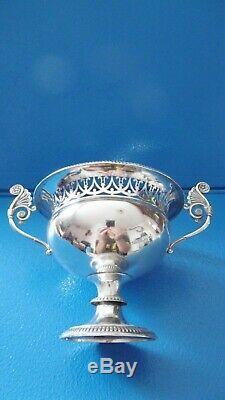 Coupe de mariage ajourée en Argent massif époque XIXème décor godron Scheffield