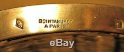 Coupe en cristal et argent orfèvre Boin-Taburet époque fin XIX ème siècle