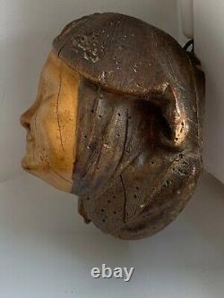 Couple Pot à tabac bustes en plâtre imitation bois époque fin XIX début XX ème